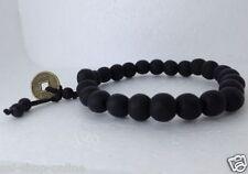 Men Style Black Feng Shui Coin with Tibetan Buddha Prayer Bracelet for Men GIFT