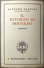 ALFREDO PANZINI IL RITORNO DI BERTOLDO ARNOLDO MONDADORI 1936