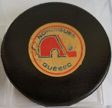VINTAGE VICEROY 1973-83 QUEBEC NORDIQUES NHL OLD GAME PUCK made in canada