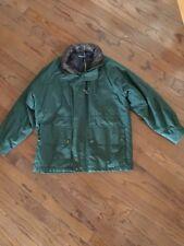 Mens Vintage Nautica Jacket Size Large Leather Collar HOOD