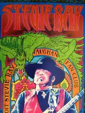 Stevie Ray Vaughn Poster, 2001, Official Fan Club - Ex. Cond.