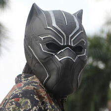 Black Panther Helmet Cosplay Full Head Latex Mask For Halloween Party Gift