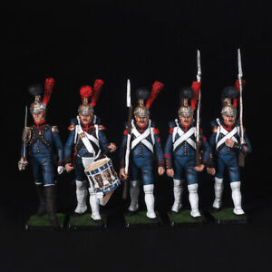 Tin soldier, Set of Engineers of the French Imperial Guard, 54 mm