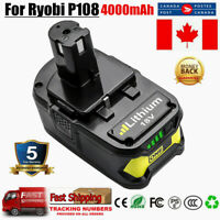 18V 4000mAh Lithium Battery For Ryobi One+ Plus P108 P107 P102 High Capacity CA