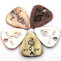 Stainless Steel Bass Guitar Pick Lot of Music Tool Thin Triangle Free Track