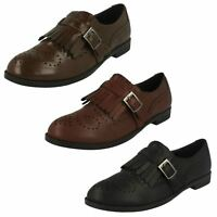 Ladies Spot On Brogue Style Slip On 'Shoes'