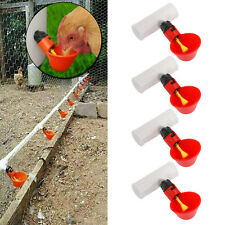 4PCS Water Drinking Cups Chicken Waterer Automatic Poultry Drinkers