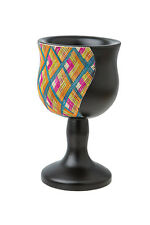 "Passover, Unique dark Wood Reed Sea Elijah`s Cup with colorful straws,6"" Tall *"