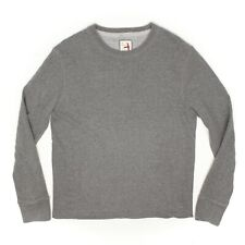 Relwen Mens Sweatshirt L Heather Gray Crew Neck Classic Cotton Thermal Lining