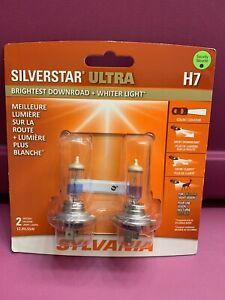 Headlight Bulb-SilverStar Ultra H7 Blister Pack Twin Sylvania