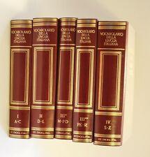 VOCABOLARIO DELLA LINGUA ITALIANA Giovanni TRECCANI ENCICLOPEDIA 5 VOLUMI 1986