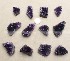1PC Natural Amethyst Geode Crystal Quartz Amethyst Cluster  Specimen Uruguay F35