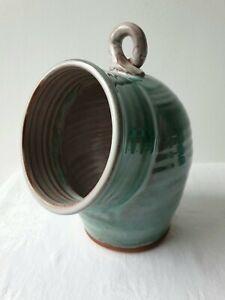 Lovely Vintage Aqua Chipping Campden Studio Pottery Salt Pig