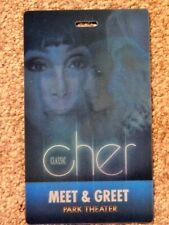 Cher Park Theater Vegas Aug 31 2019 Orig Meet & Greet 3-D Lenticular Credential