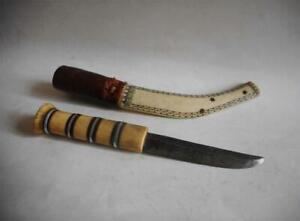 Antique North Europe TOP QUALITY HIGH AGED USED LAPLAND LAPPER SAMI KNIFE