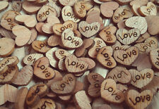 100pcs Rustic Wooden Love Heart Wedding Table Scatter Decoration Crafts DIY Xmas