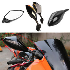 For Kawasaki Ninja ZX6R ZX10R Black Rearview Side Mirrors With Turn Signal Light