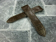 23mm Alligator Skin Deployment Strap Brown Watch Band SANTOS 100 XL CARTIER