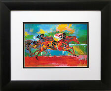 "LeRoy Neiman ""The Race of the Year"" New FRAMED  Print Horse Race Equestrian"