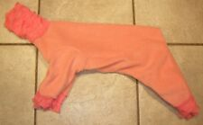 Sm 4 Leg Peach w Ruffle Trim Toy Dog Pj Italian Greyhound Chinese Crested Poodle