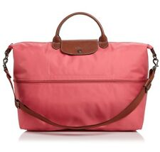 11bdf0f029ed NWT Longchamp Le Pliage Expandable Travel Crossbody Weekender Bag FLOWER  PINK