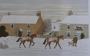 HADDELSEY Vincent : Randonnée hivernale  LITHOGRAPHIE Originale signée #100ex