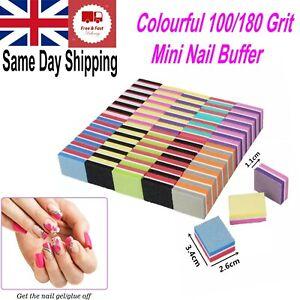 Double-sided Mini Nail File Colourful Sponge Nail Sanding Buffer Polishing Block