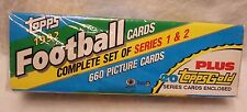 Topps NEW & SEALED 1992 Football Cards Complete Set of Series 1&2 Plus Cards