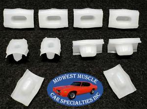 62-72 GM Body Side Belt Molding Moulding Bath Tub Style Trim Clips 10pcs TF