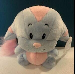 NWT 2003 Neopets Striped Kacheek Plush Blue & Pink Stuffed Animal Plushie