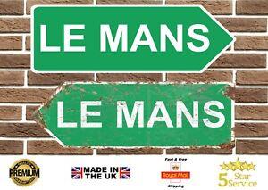 Le Mans Circuit Metal Road Sign Vintage Retro Garage Sign Man Cave