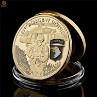 US 101st Airborne Division Free Eagle Gold Military Commemorate Challenge Coin
