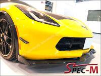 2014+ Corvette C7 Z06 Stingray R1 w/ Winglets Carbon Fiber Front Bumper Lip CF