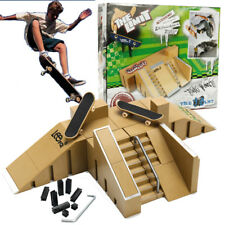 Ultimate Skate Park Ramp Parts With 2 Tech Deck Fingerboard Finger Board Kid Toy