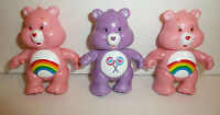 Lot of 3 Care Bears Poseable Action Figures - Cheer Bear and Share Bear Toys