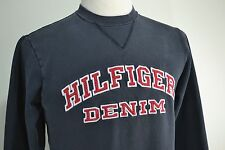 Vintage 90's Hilfiger Denim Sweatshirt Navy Blue Men's size Small Tommy Jeans
