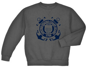 US Coast Guard sweatshirt Men's dark gray USCG sweat shirt sweats top