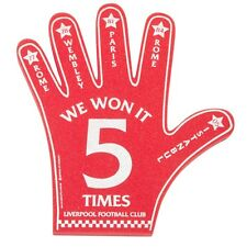 LIVERPOOL FC OFFICIAL RED 'WE WON IT 5 TIMES' FOAM HAND 42cm x 38cm Brand New!