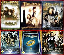 PS2 3 DER HERR DER RINGE GAMES + 3 Filme BOX:GEFÄHRTEN +2 TÜRME +RÜCK KÖNIGS
