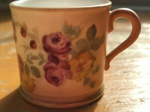 Early Royal Worcester Flowered Mug with Red Pruce Mark  In Excellent Condition