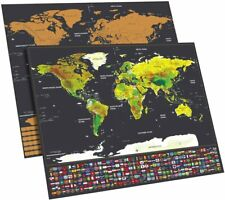 Cosbity Scratch Off Travel Map Of The World & United States Brand NEW