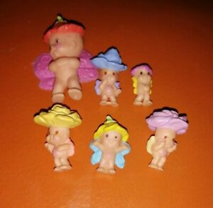 6 RARE KENNER 1993 BABY FAIRY WINKLES DOLLS NICE CONDITION FREE UK POST