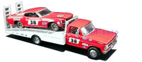 ACME GREENLIGHT FORD F-350 RAMP TRUCK&1969 MUSTANG #38 COCA-COLA 1/64 CAR 51269