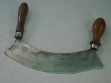 French Herb Chopper Steel Blade and Turned Wood Antique French Country Cottage