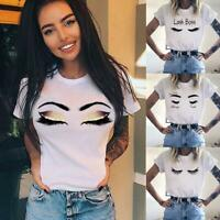 Sommer Casual Tops Frauen Daisy Print T-Shirts Kurzarm Gänseblümchen Z4A2