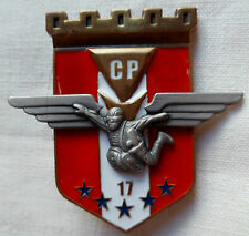 Insigne 17° RGP CP NUMEROTE SEGALEN CHUTEURS PARACHUTISTES GENIE FRENCH BADGE