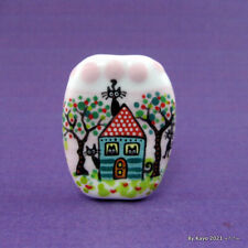 """""""THE KITTY COTTAGE"""" a handmade lampwork glass CAT pendant focal bead byKayo SRA"""