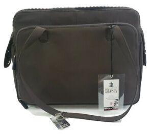 Francesco Biasia Evolution Brown Microfiber Brief Case Laptop Business Bag New