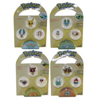 Pokemon Tomy Mini Figures - SET OF 4 with Accessories (Pikachu, Eevee, Dedenne+)