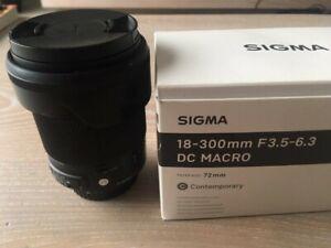 OBJETCIF SIGMA 18-300mm monture CANON